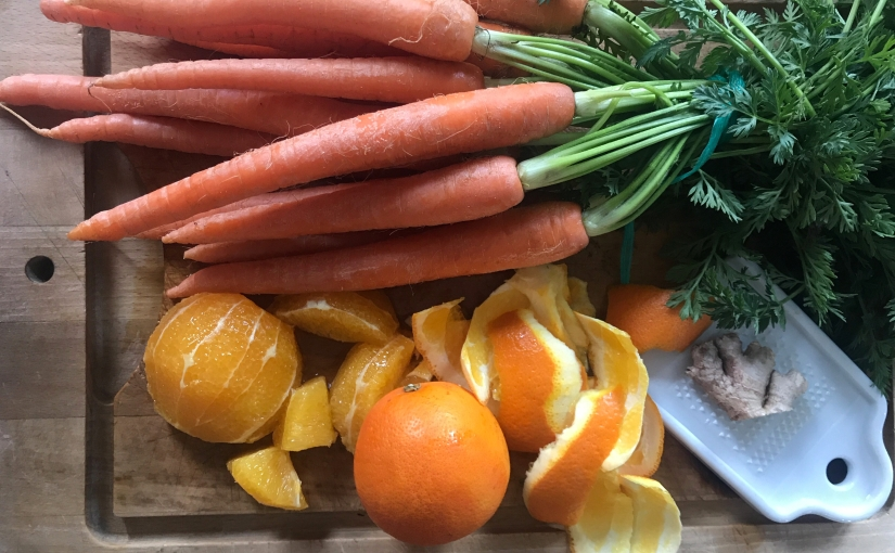 Soupe Soleil: carotte, gingembre etorange